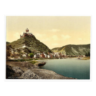 Cochem and castle, Moselle, valley of, Germany cla Postcard