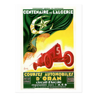 Coches 1930 de competición de Argelia del vintage  Postales