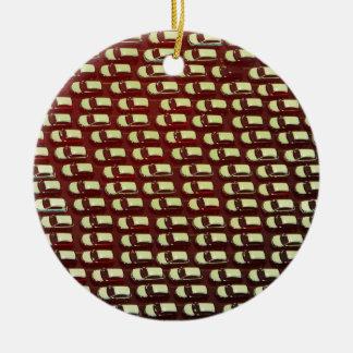 Coches aéreos en una línea ornamento para arbol de navidad