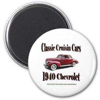 Coches clásicos de Cruisin Chevrolet 1940 Imán Para Frigorífico