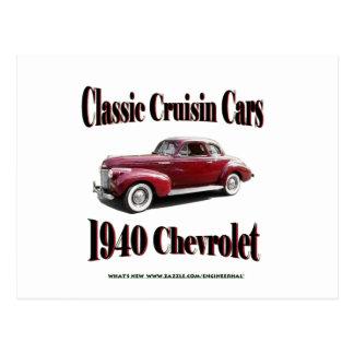 Coches clásicos de Cruisin Chevrolet 1940 Tarjeta Postal