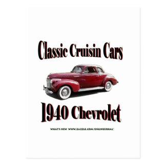 Coches clásicos de Cruisin Chevrolet 1940 Tarjetas Postales