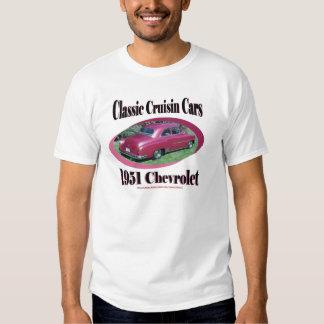 Coches clásicos de Cruisin Chevrolet 1951 Camisas