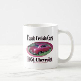 Coches clásicos de Cruisin Chevrolet 1951 Taza