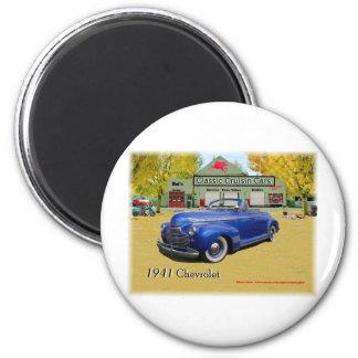 Coches clásicos de Cruisin Chevy 1941 Imanes Para Frigoríficos