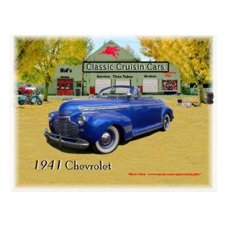 Coches clásicos de Cruisin Chevy 1941 Tarjeta Postal