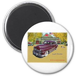 Coches clásicos de Cruisin Desoto 1948 Imán Redondo 5 Cm
