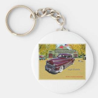 Coches clásicos de Cruisin Desoto 1948 Llavero Redondo Tipo Pin