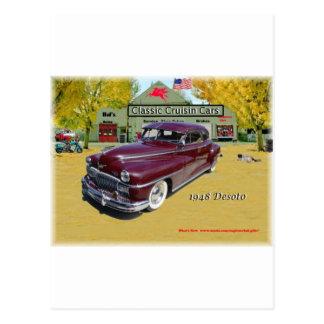 Coches clásicos de Cruisin Desoto 1948 Postal