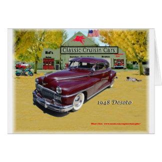 Coches clásicos de Cruisin Desoto 1948 Tarjeta De Felicitación