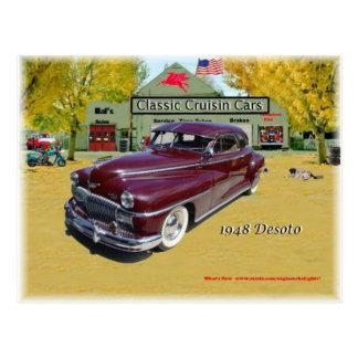 Coches clásicos de Cruisin Desoto 1948 Tarjetas Postales