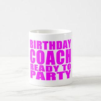 Coches: Coche del cumpleaños listo para ir de Taza De Café