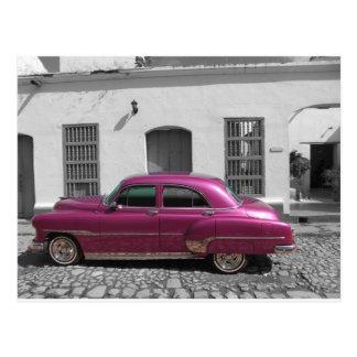 Coches cubanos 4 tarjetas postales