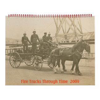 Coches de bomberos con el tiempo Calander 2009 Calendarios De Pared