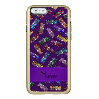 Coches de bomberos púrpuras conocidos funda para iPhone 6 plus incipio feather shine