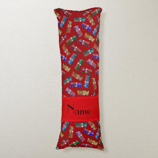 Coches de bomberos rojos conocidos personalizados almohada