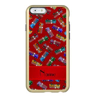 Coches de bomberos rojos conocidos personalizados funda para iPhone 6 plus incipio feather shine