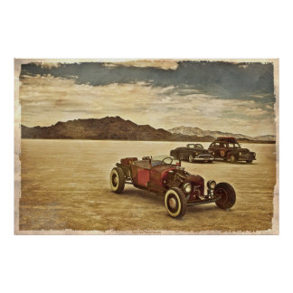 Coches de carreras en el poster de Bonneville