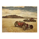 Coches de carreras en la postal de Bonneville