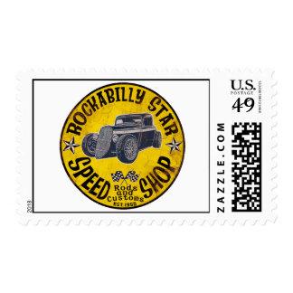 Coches de carreras timbres postales