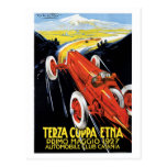 Coches de competición de los años 20 de Sicilia de Postal
