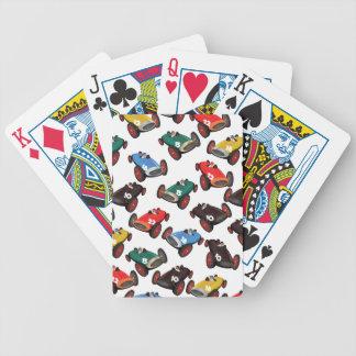 Coches de competición del vintage barajas de cartas