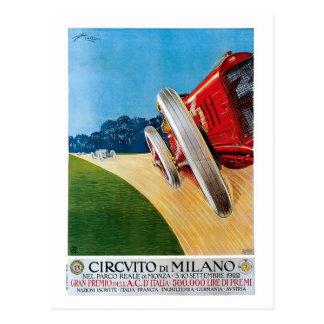 Coches de competición italianos de los años 20 del postal
