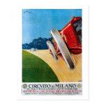 Coches de competición italianos de los años 20 del postales