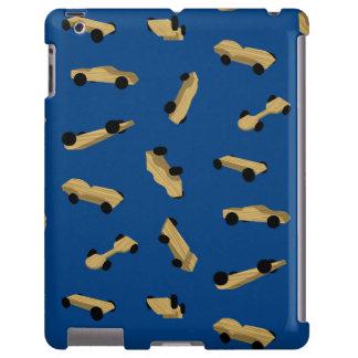 Coches de Derby en azul Funda Para iPad