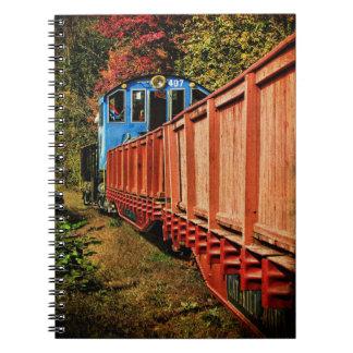 Coches de ferrocarril del Cuaderno-Vintage Notebook