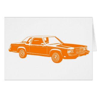 coches del americano de los años 80 tarjeta de felicitación