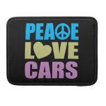 Coches del amor de la paz funda para macbook pro