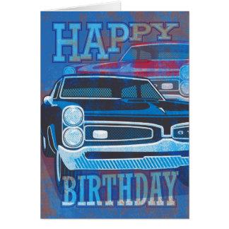 Coches del feliz cumpleaños GTO Tarjetón