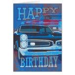 Coches del feliz cumpleaños GTO Tarjeta De Felicitación