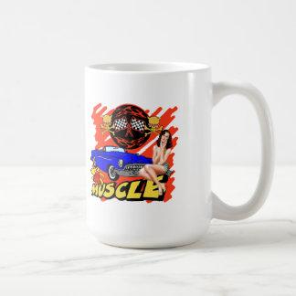 Coches del músculo del vintage tazas de café