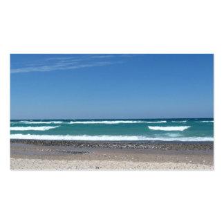 Coches del negocio de la playa y de las ondas tarjetas de visita