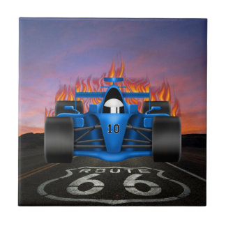 Coches del vintage - coche de carreras - ruta 66 - azulejo
