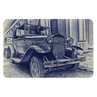 Coches del vintage imanes rectangulares