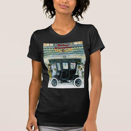 Coches eléctricos del panadero - anuncio del camiseta