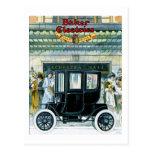 Coches eléctricos del panadero - anuncio del vinta tarjeta postal
