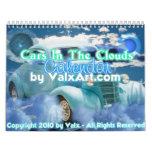 Coches en el calendario de las nubes por el