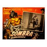 Coches enmascarados mexicano del pasillo del héroe tarjeta postal