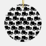 Coches negros ornaments para arbol de navidad