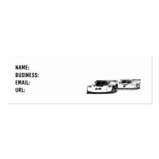 Coches - raza - flacos - modificado para tarjetas de visita mini