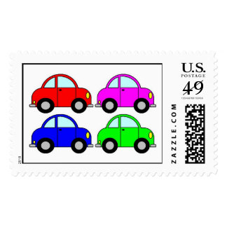 coches timbre postal