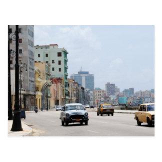 Coches viejos del La La Habana Tarjetas Postales