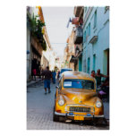 Coches viejos en las calles de La Habana Impresiones