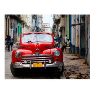 Coches viejos en las calles de La Habana Tarjetas Postales