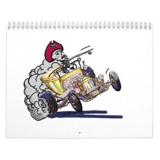 Coches y coches de carreras frescos calendarios