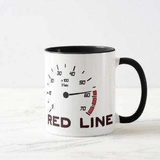 Coches y conducción - línea roja con el tacómetro taza